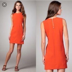 Vince orange silk mini dress size 4